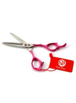 Degażówki fryzjerskie różowe 17,5 cm PURPLE DRAGON