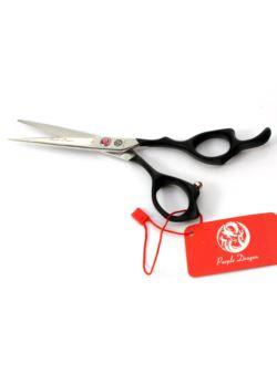 Nożyczki fryzjerskie czarne 18 cm PURPLE DRAGON