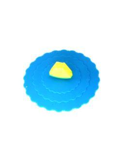Pokrywka silikonowa do kubka niebieski
