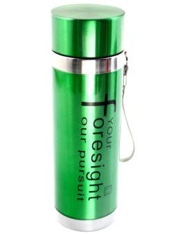 komm/k66z Butelka metalowa zielona 400ml LUX