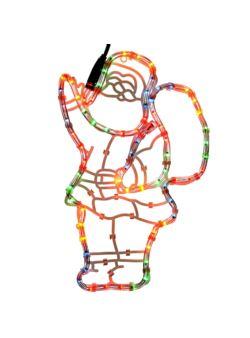 Duża wielobarwna sylwetka Świętego Mikołaja NLED 3