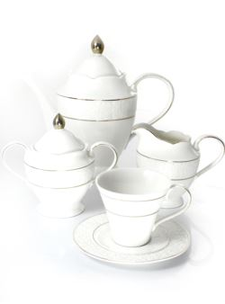 k38 kpl 17el porcelanowy kawa/herbata BoneChi