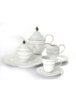 k40 serwis 21el porcelanowy do herbaty kawy
