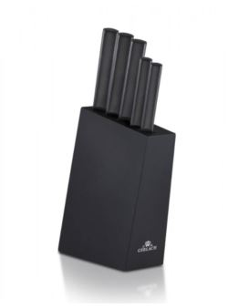 Gerlach AMBIENTE BLACK 5 szt noży kuchennych blok