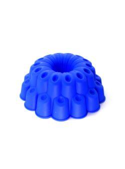 Forma silikonowa do ciasta babki z tuleją niebiesk
