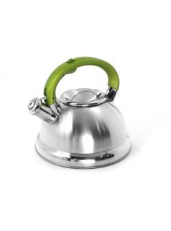 komm/e80z czajnik stalowy LUX rączka zielona