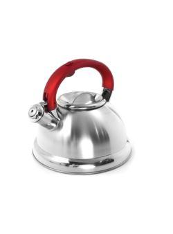 komm/e80cz czajnik stalowy LUX rączka czerwona