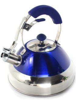 komm/e79n czajnik 3L stalowy z gwizdkiem niebieski