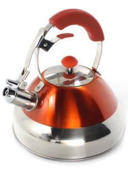 komm/e79p czajnik 3L stalowy z gwizdkiem pomarańcz