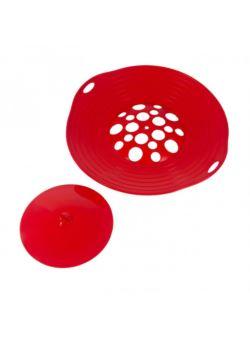 komm/e09c pokrywka silikonowa nie kipiąca czerwona