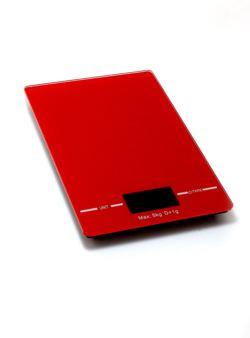 komm/k76cz waga kuchenna czerwona 5kg płaska