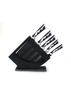 komm/e68 kpl 5 szt noży BW w stojaku czarnym