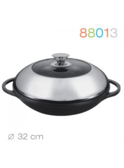 v/88013 Granchio wok 32 cm Marmo