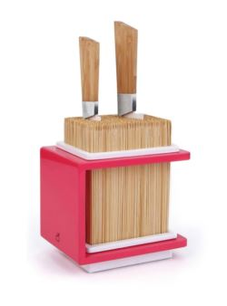 coo/fakirp Cookut blok - stojak do noży różowy