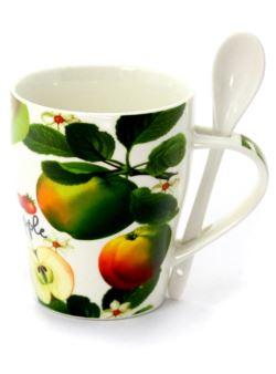 hp1530 Jabłko kubek ceramiczny z łyżeczką 350ml
