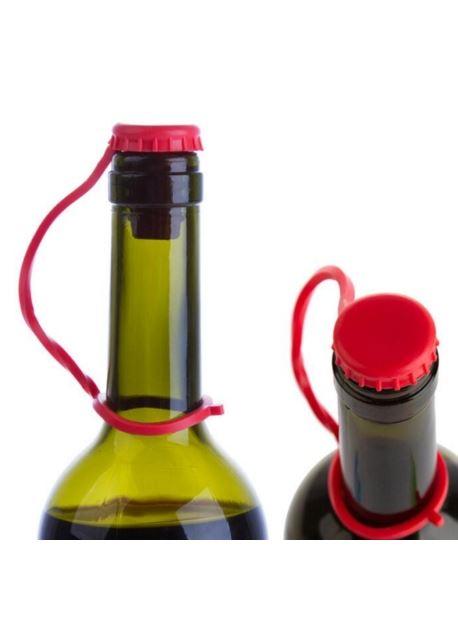 Korek kapsel zatyczka butelek silikonowy czerwony