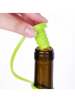 Korek kapsel zatyczka butelek silikonowy zielony