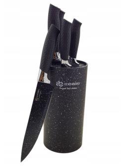 EDENBERG kpl 5 szt noże ceramiczne w bloku czarnym