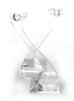 Twister kpl 2 szt swiecznikow kryształ 24% PbO