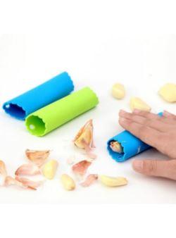Obieraczka do czosnku silikonowa zielona obierak